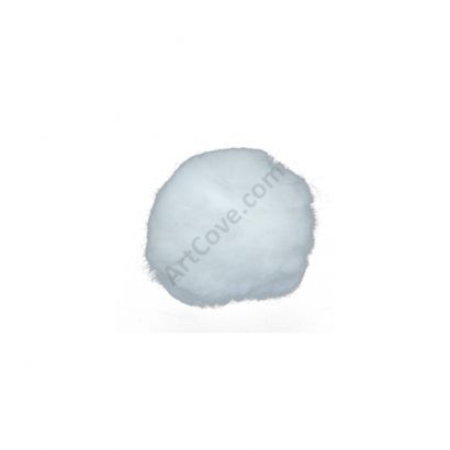 2.5 inch large white craft pom poms