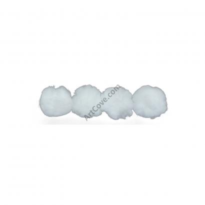 white craft pom pom balls bulk 2.5 inch