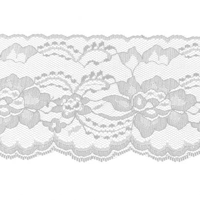 White 4 Inch Wide Flat Lace