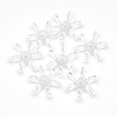 10mm Transparent Crystal Clear Starflake Beads