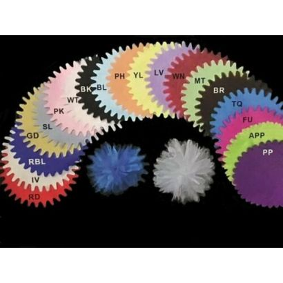 Pink Tulle Circle 9 inch Pointed Edge