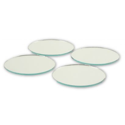 2 inch round craft mirrors