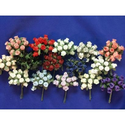 Light Blue Miniature Rose Buds for Crafts