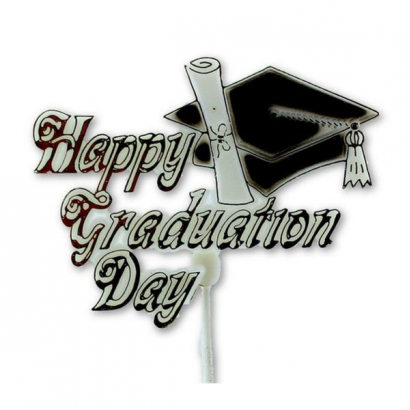 Happy Graduation Day Floral Pick