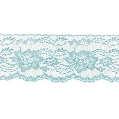 Light Blue 3 Inch Wide Flat Lace