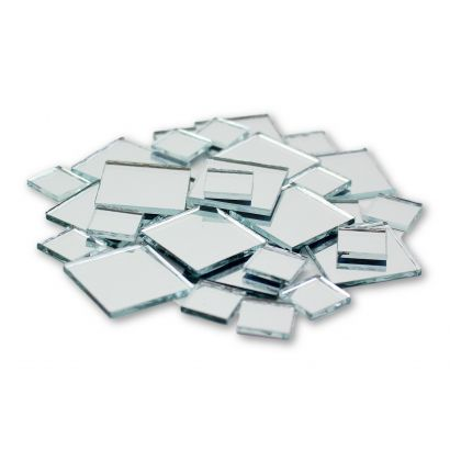 Mini Square Glass Craft Mirrors Bulk