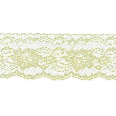 Maize 3 Inch Wide Flat Lace