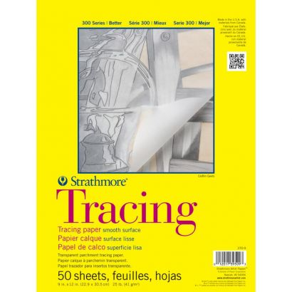 9x12 Inch Strathmore 300 Series Tracing Paper Pad 13 lb. 50 Sheets