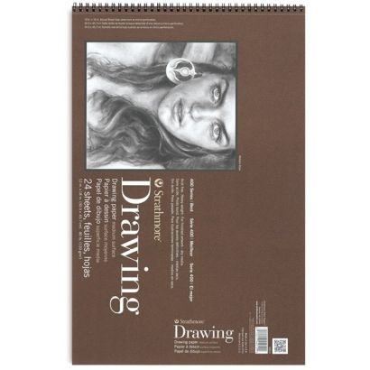 12x18 Inch Strathmore 400 Series Drawing Pad 24 Sheets