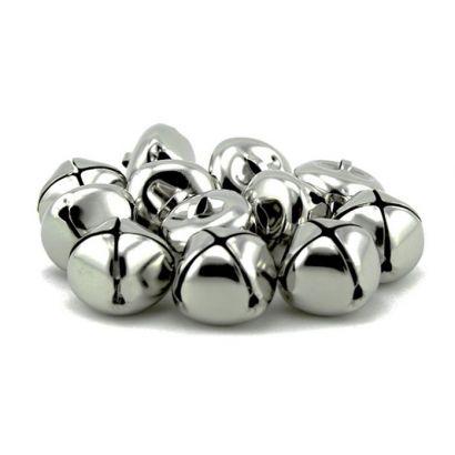 1 Inch Silver Jingle Bells