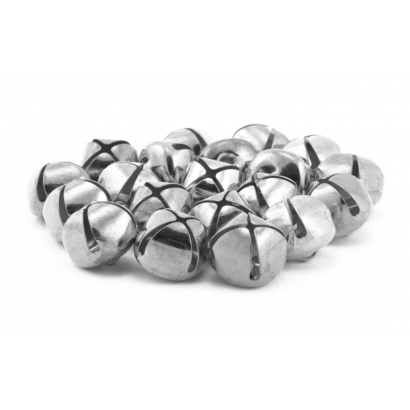 3/4 inch Silver Jingle Bells Bulk