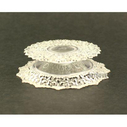 2.75 Inch Clear Plastic Ornament Base Cake Topper Bulk