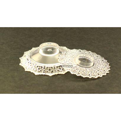 2.75 Inch Clear Plastic Ornament Base Cake Topper