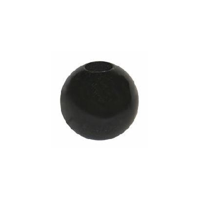 38mm black wood beads