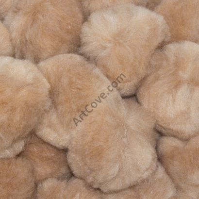 beige craft pom pom balls bulk 1.5 inch