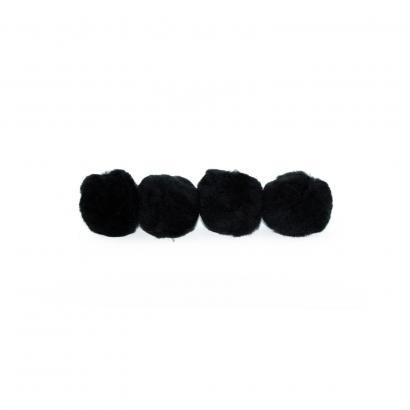 black craft pom pom balls bulk 2 inch