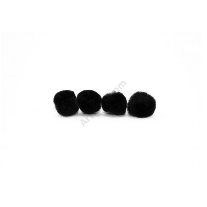 black craft pom pom balls bulk .75 inches