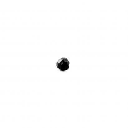 black faceted beads bulk single