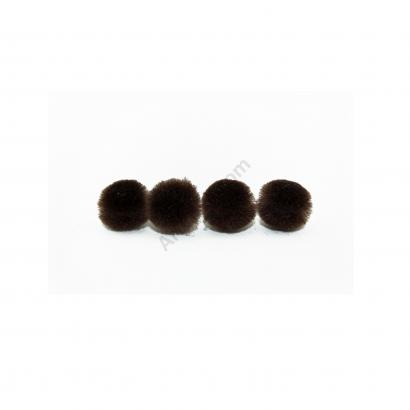 brown craft pom pom balls bulk .75 inches