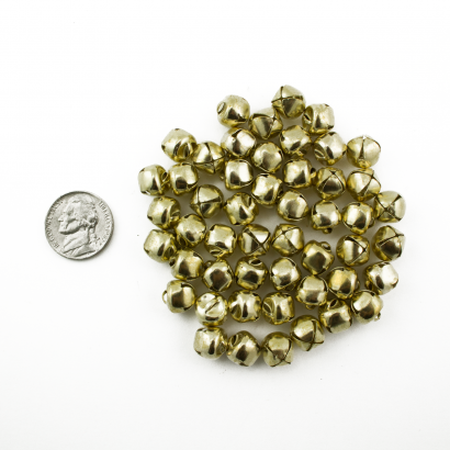 1/2 Inch 13mm Small Gold Craft Jingle Bells