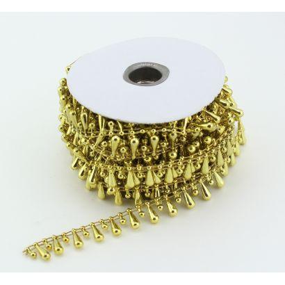 gold fused teardrop pearls