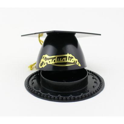 Mini Black Graduation Cap Favor Boxes