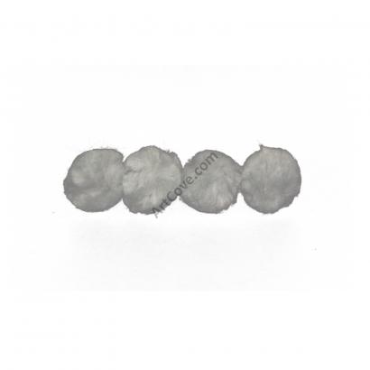 1-1/2 inch Grey Craft Pom Poms