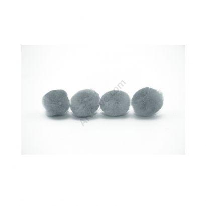 grey craft pom pom balls bulk .75 inches