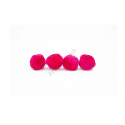 hot pink craft pom pom balls bulk .75 inches