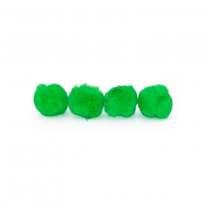 neon green craft pom pom balls bulk 1 inch