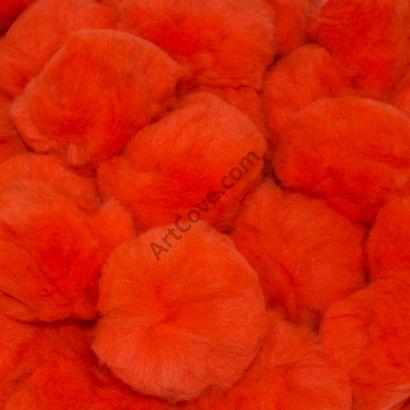 orange craft pom pom balls bulk 1.5 inch