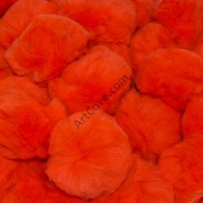 1-1/2 inch Orange Craft Pom Poms
