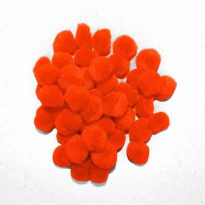 orange craft pom pom balls bulk .75 inches