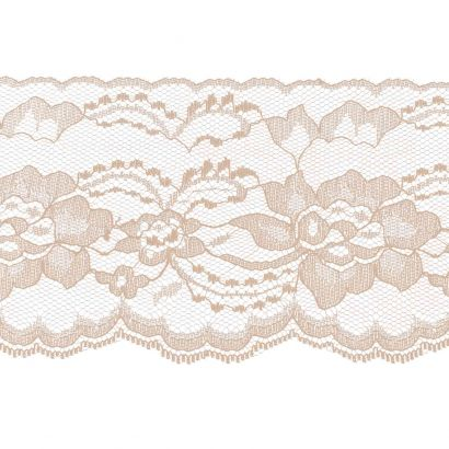 Peach 3 Inch Wide Flat Lace