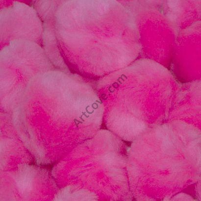 1-1/2 inch Pink Craft Pom Poms 100 Pieces Pom Pom Balls