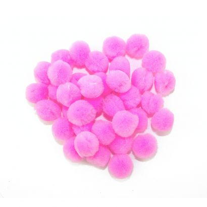 pink craft pom pom balls bulk .75 inches