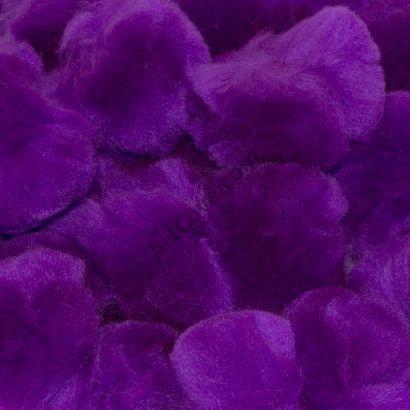 1-1/2 inch Purple Craft Pom Poms