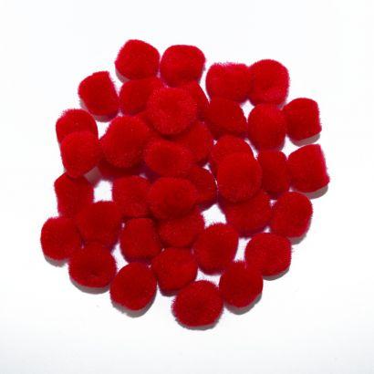 red craft pom pom balls bulk .75 inches single