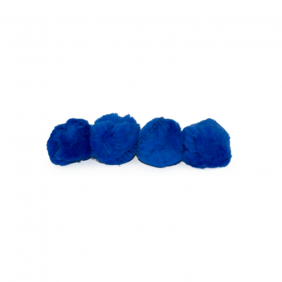 1-1/2 inch Royal Blue Craft Pom Poms