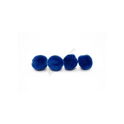 royal blue craft pom pom balls bulk .75 inches