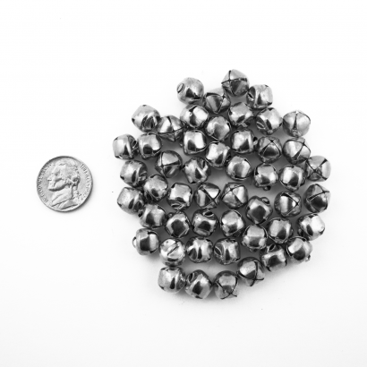 10mm Silver Small Jingle Bells Bulk