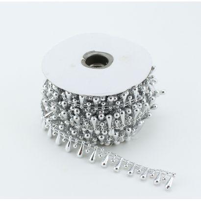 silver fused teardrop pearls