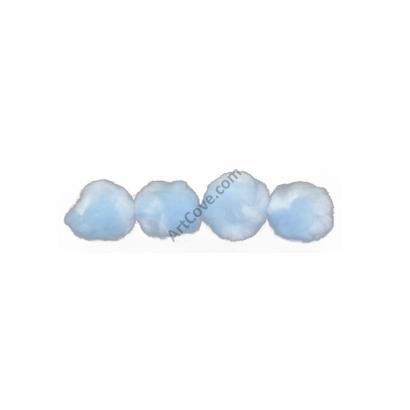 sky blue craft pom pom balls bulk 2 inch