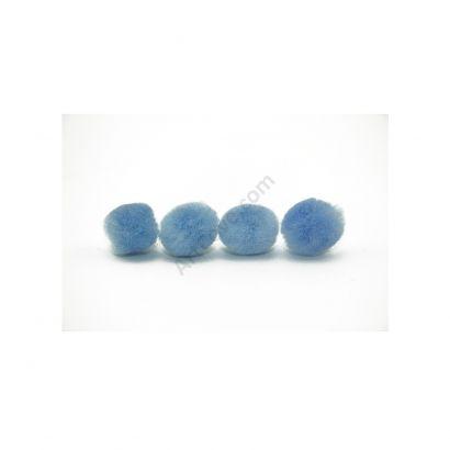 sky blue craft pom pom balls bulk .75 inches