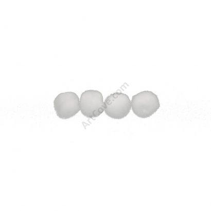 white craft pom pom balls bulk .75 inches single
