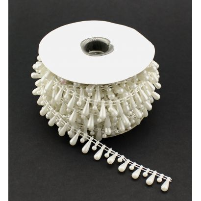 white fused teardrop pearls