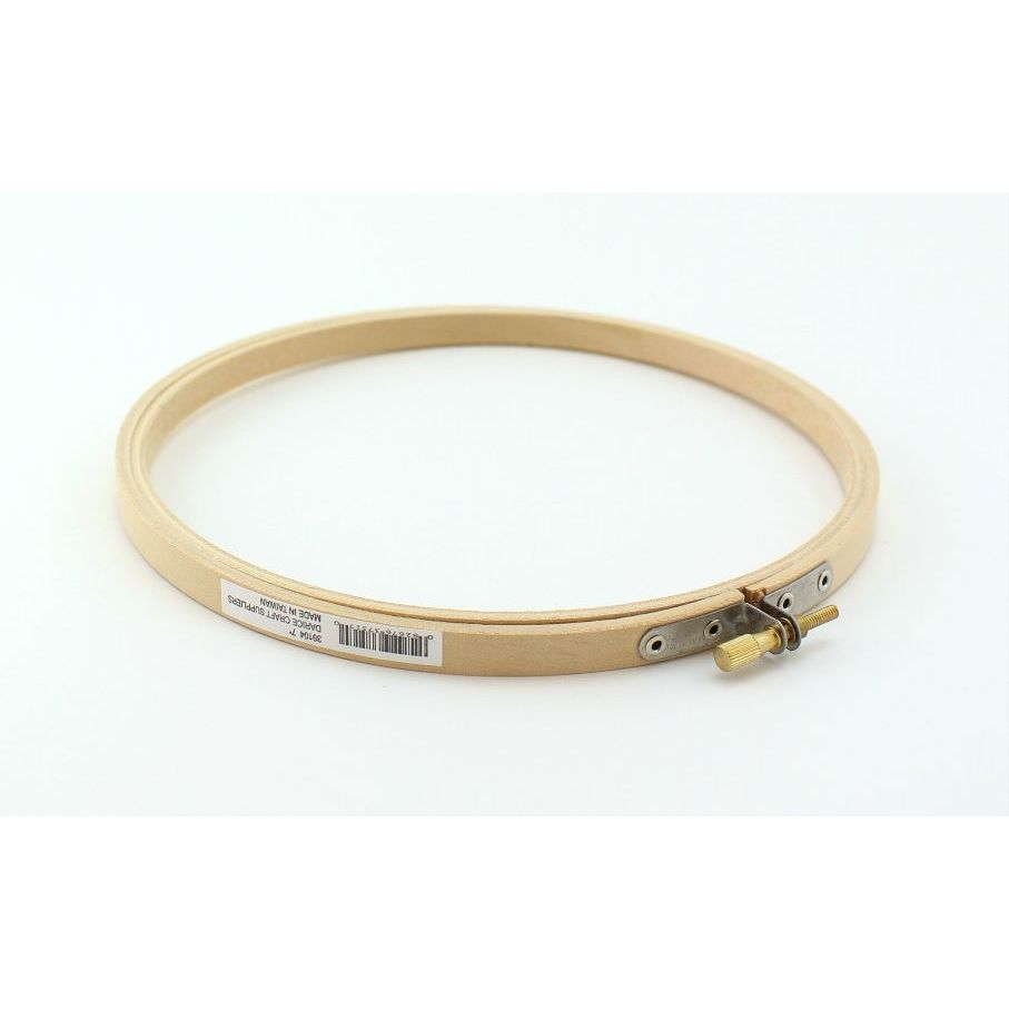 7 Inch Round Wooden Embroidery Hoop 1 Piece